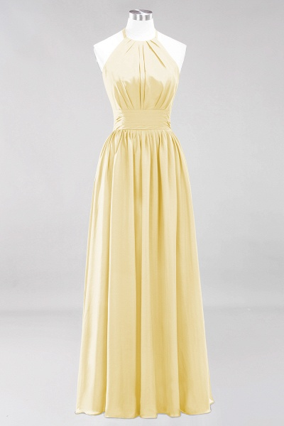 A-line Chiffon Appliques Halter Sleeveless Floor-Length Bridesmaid Dresses with Ruffles_17