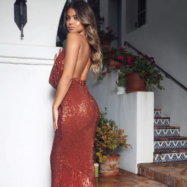 Amazing V-neck Mermaid Prom Dress_5