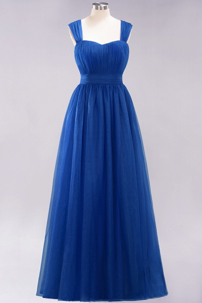 A-Line Chiffon Sweetheart Straps Sleeves Floor-Length Bridesmaid Dresses with Ruffles_25