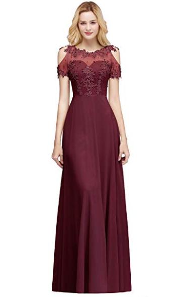 Fabulous Jewel Chiffon A-line Prom Dress_2