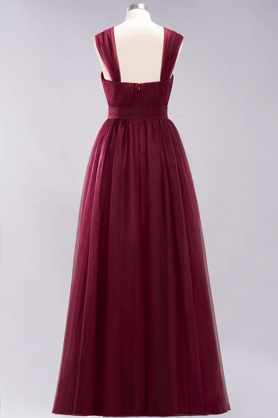 A-Line Chiffon Sweetheart Straps Sleeves Floor-Length Bridesmaid Dresses with Ruffles_38