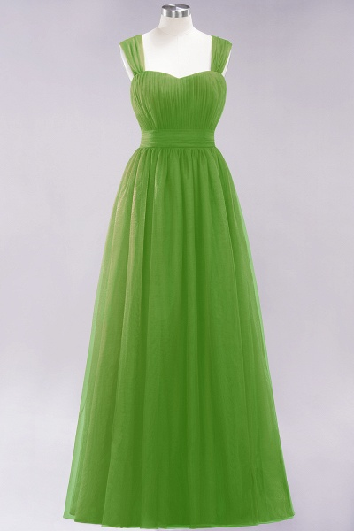 A-Line Chiffon Sweetheart Straps Sleeves Floor-Length Bridesmaid Dresses with Ruffles_32