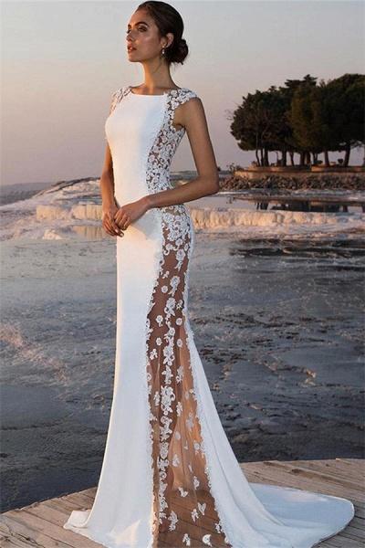 Elegant Straps Satin Mermaid Prom Dress_1