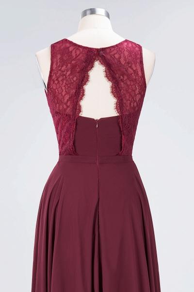 A-Line Chiffon Lace Jewel Sleeveless Hollowout Floor-Length Bridesmaid Dress_6