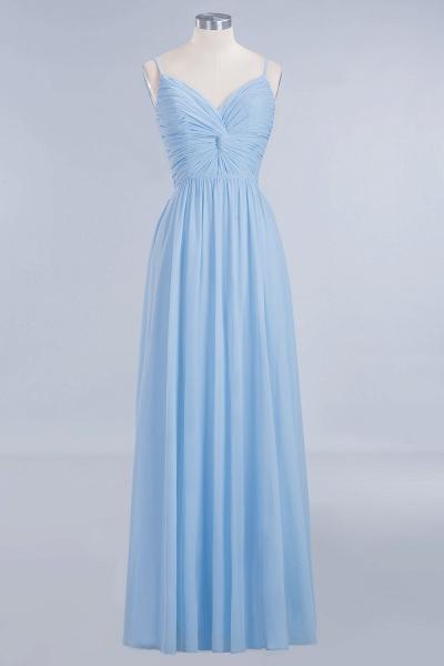 A-Line Chiffon V-Neck Spaghetti Straps Floor-Length Bridesmaid Dresses_8
