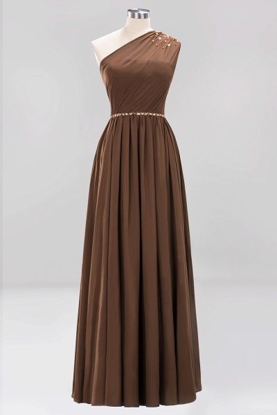 Elegant A-Line Burgundy Chiffon One-Shoulder Sleeveless Ruffles Floor-Length Bridesmaid Dresses with Beadings_12