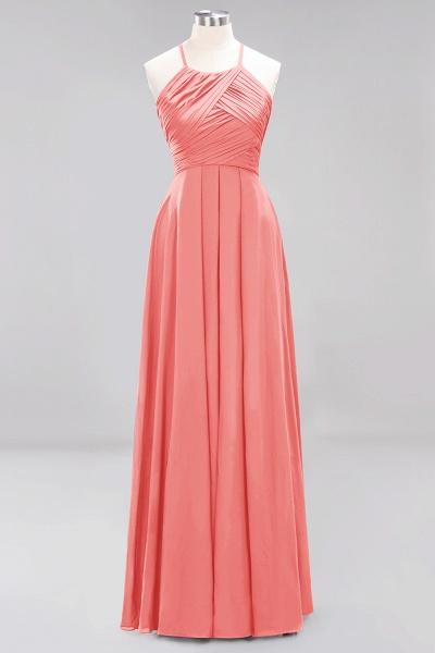 A-Line Chiffon Halter Ruffles Floor-Length Bridesmaid Dress_7