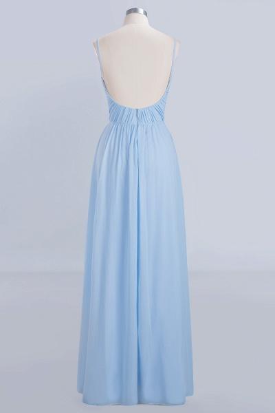A-Line Chiffon V-Neck Spaghetti Straps Floor-Length Bridesmaid Dresses_9