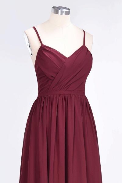 A-Line Chiffon Spaghetti-Straps V-Neck Sleeveless Floor-Length Bridesmaid Dress with Ruffles_5