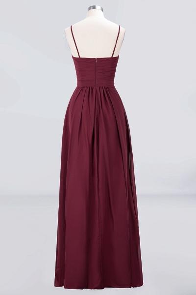 A-Line Chiffon Sweetheart Spaghetti-Straps Backless Floor-Length Bridesmaid Dress with Ruffles_2