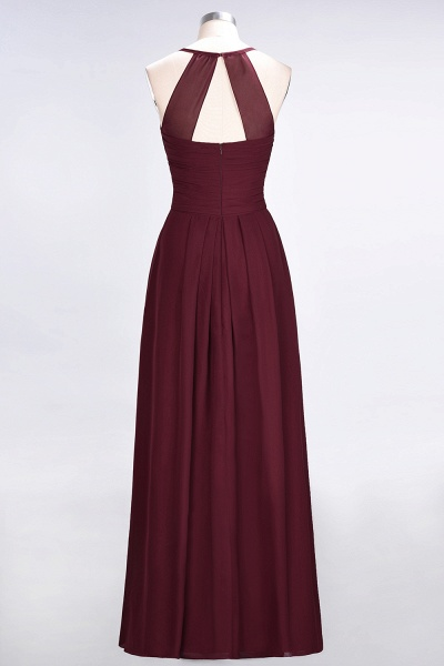 A-Line Chiffon Halter V-Neck Sleeveless Floor-Length Bridesmaid Dress with Ruffles_44