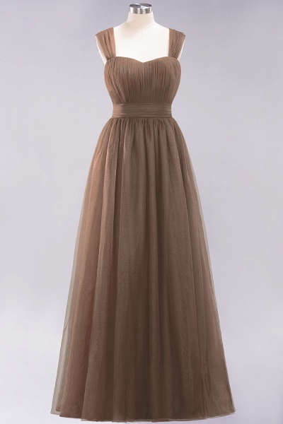 A-Line Chiffon Sweetheart Straps Sleeves Floor-Length Bridesmaid Dresses with Ruffles_12
