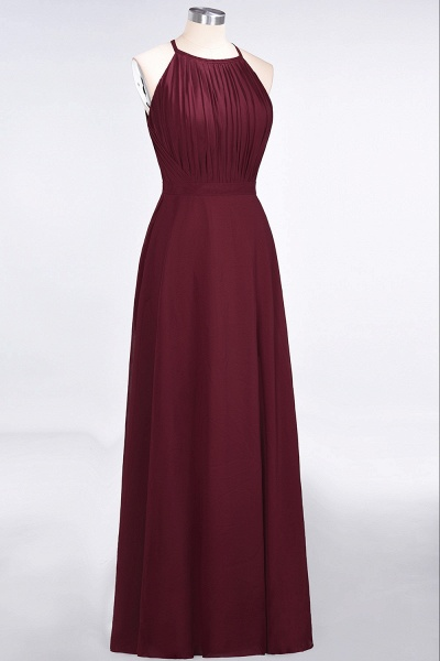 A-Line Chiffon Jewel Sleeveless Floor-Length Bridesmaid Dress with Ruffles_3
