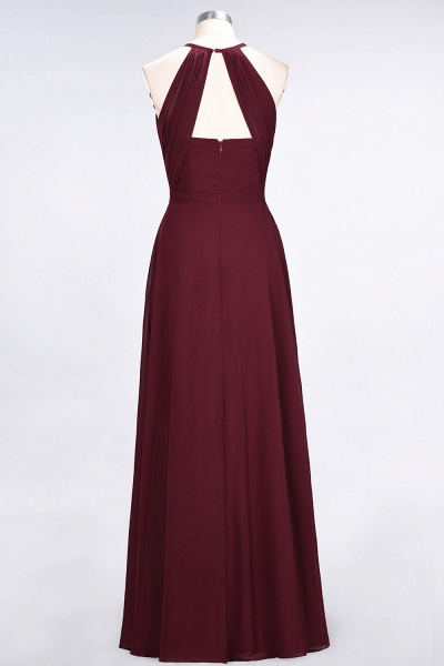 A-Line Chiffon Jewel Sleeveless Floor-Length Bridesmaid Dress with Ruffles_2