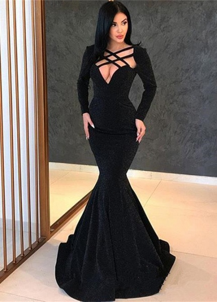 Wonderful Long Sleeves Mermaid Prom Dress_1
