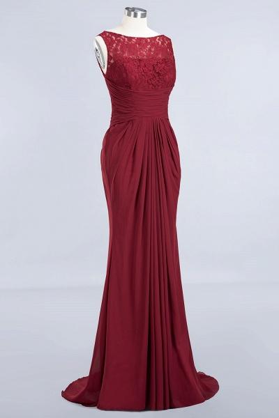 BM0058 Burgundy Chiffon Lace Scoop A-Line Ruffles Long Bridesmaid Dresses_9