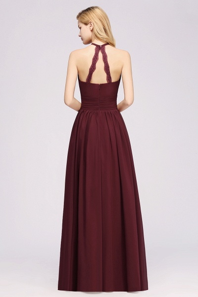 A-line Chiffon Appliques Halter Sleeveless Floor-Length Bridesmaid Dresses with Ruffles_36