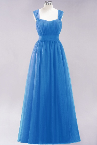 A-Line Chiffon Sweetheart Straps Sleeves Floor-Length Bridesmaid Dresses with Ruffles_24