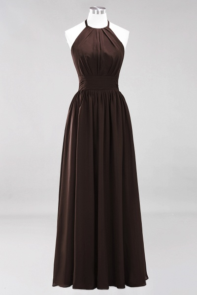 A-line Chiffon Appliques Halter Sleeveless Floor-Length Bridesmaid Dresses with Ruffles_11