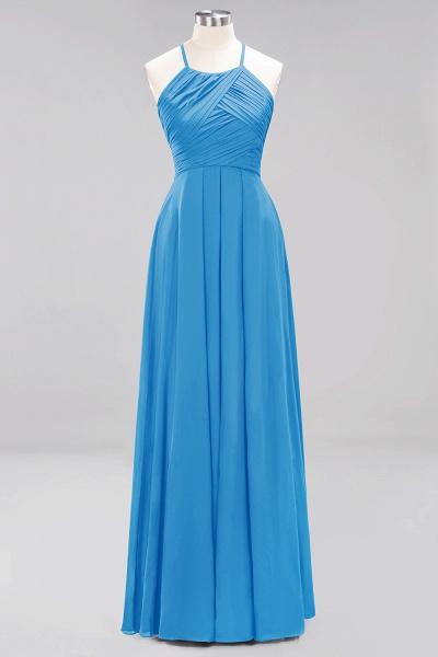 A-Line Chiffon Halter Ruffles Floor-Length Bridesmaid Dress_24