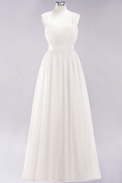 A-Line Chiffon Sweetheart Straps Sleeves Floor-Length Bridesmaid Dresses with Ruffles_2