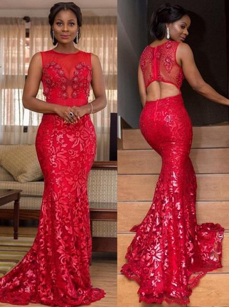 Affordable Jewel Tulle Mermaid Prom Dress_1