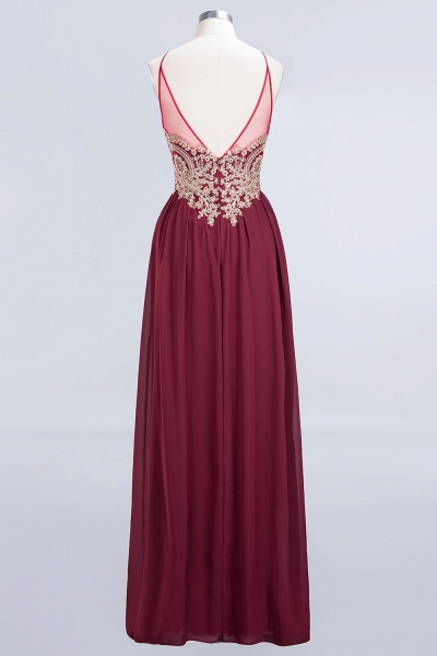 A-Line Chiffon Spaghetti-Straps Sleeveless Backless Floor-Length Bridesmaid Dress with Appliques_5