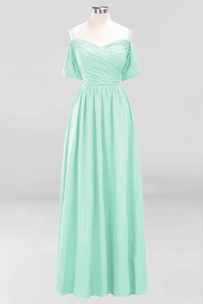 A-Line Chiffon V-Neck Spaghetti Straps Short-Sleeves Floor-Length Bridesmaid Dresses with Ruffles_34