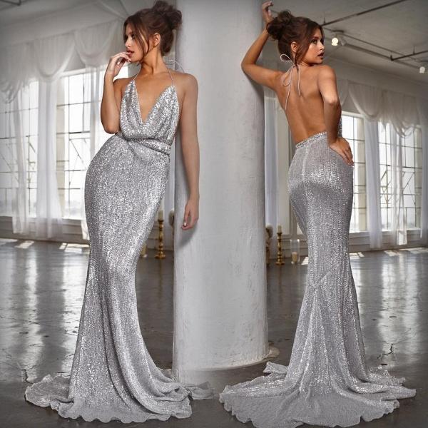 Amazing V-neck Mermaid Prom Dress_6