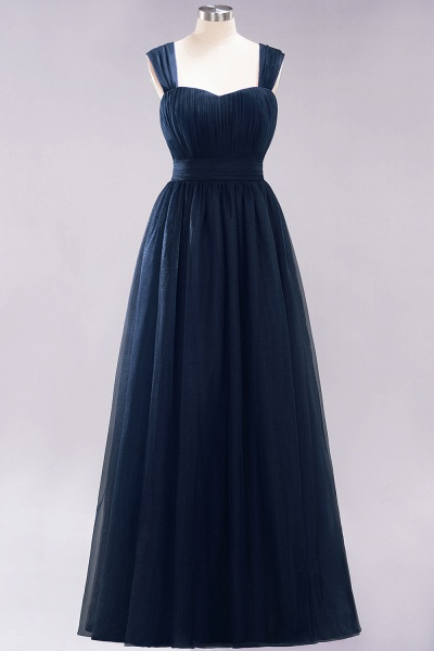 A-Line Chiffon Sweetheart Straps Sleeves Floor-Length Bridesmaid Dresses with Ruffles_27