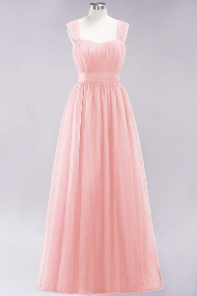 A-Line Chiffon Sweetheart Straps Sleeves Floor-Length Bridesmaid Dresses with Ruffles_5
