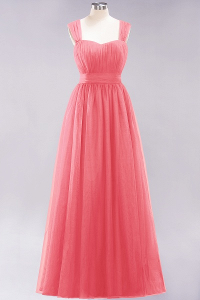 A-Line Chiffon Sweetheart Straps Sleeves Floor-Length Bridesmaid Dresses with Ruffles_7