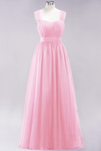 A-Line Chiffon Sweetheart Straps Sleeves Floor-Length Bridesmaid Dresses with Ruffles_4