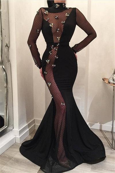 Best High Neck Satin Mermaid Prom Dress_1