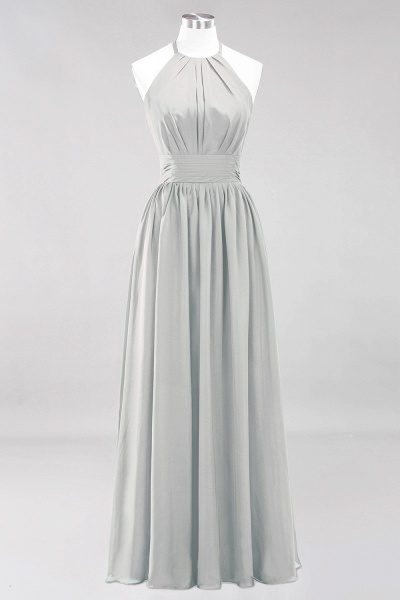 A-line Chiffon Appliques Halter Sleeveless Floor-Length Bridesmaid Dresses with Ruffles_29