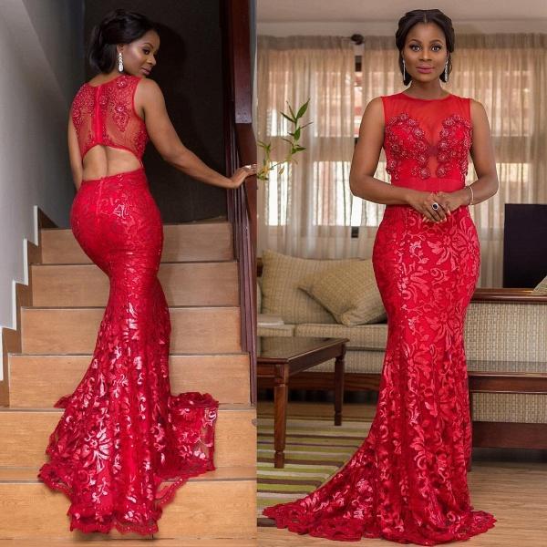 Affordable Jewel Tulle Mermaid Prom Dress_3