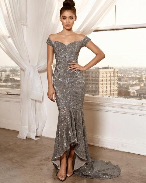 Excellent Off-the-shoulder Column Prom Dress_3