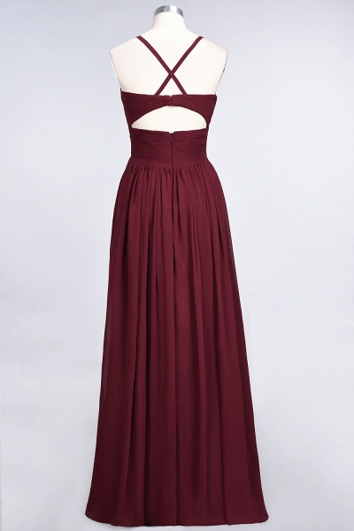 A-Line Chiffon Spaghetti-Straps V-Neck Sleeveless Floor-Length Bridesmaid Dress with Ruffles_36