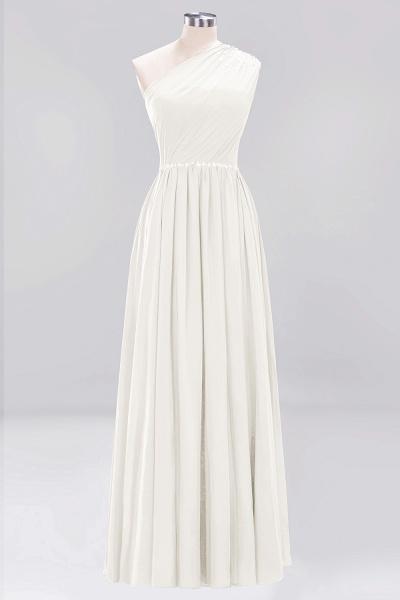 Elegant A-Line Burgundy Chiffon One-Shoulder Sleeveless Ruffles Floor-Length Bridesmaid Dresses with Beadings_2