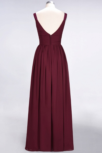 A-Line Chiffon Straps V-Neck Sleeveless Backless Floor-Length Bridesmaid Dress with Ruffles_44