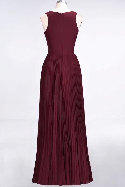 A-Line Satin Chiffon V-Neck Sleeveless Floor-Length Bridesmaid Dress with Ruffles_10