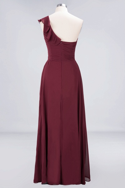 A-Line Chiffon One-Shoulder Sweetheart Sleeveless Floor-Length Bridesmaid Dress with Ruffles_10
