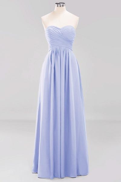 A-line Chiffon Sweetheart Strapless Ruffles Floor-length Bridesmaid Dress_22