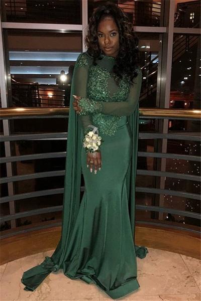 Elegant Jewel Stretch Satin Mermaid Prom Dress_3