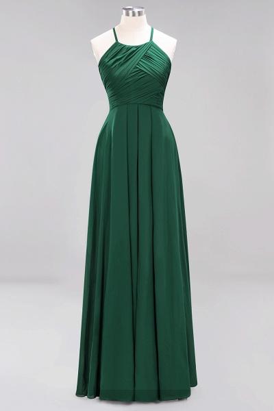A-Line Chiffon Halter Ruffles Floor-Length Bridesmaid Dress_30