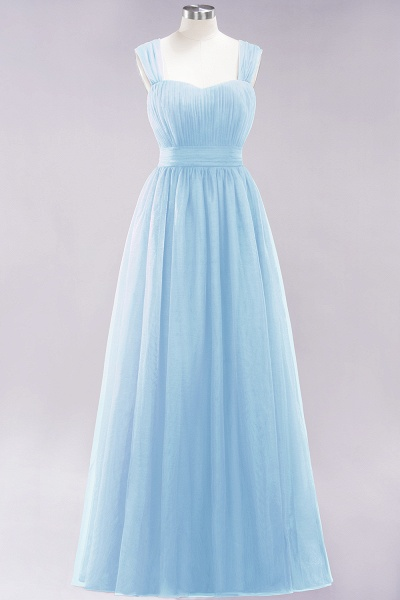 A-Line Chiffon Sweetheart Straps Sleeves Floor-Length Bridesmaid Dresses with Ruffles_22