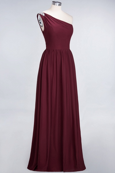 A-Line Chiffon One-Shoulder Sleeveless Ruffles Floor-Length Bridesmaid Dress with Beadings_37