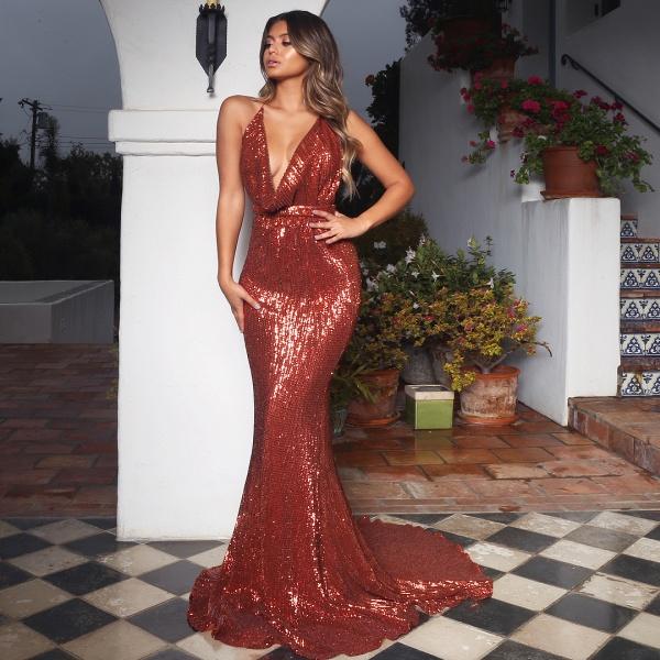 Amazing V-neck Mermaid Prom Dress_3