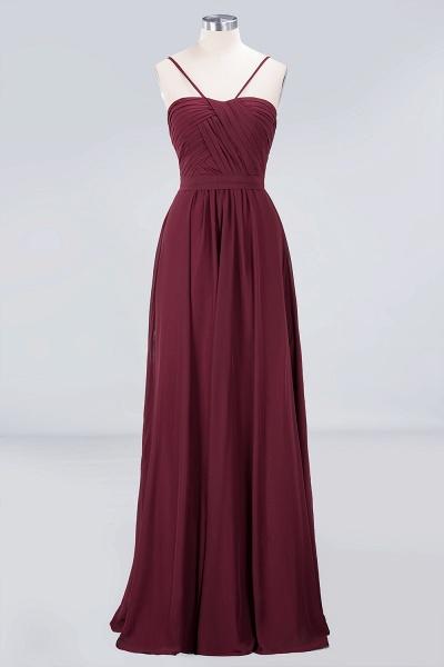 A-Line Chiffon Sweetheart Spaghetti-Straps Backless Floor-Length Bridesmaid Dress with Ruffles_1