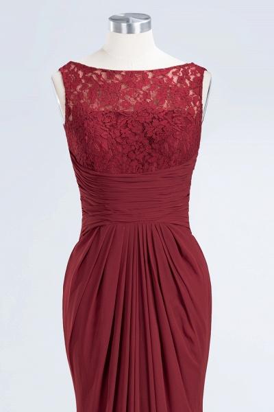 BM0058 Burgundy Chiffon Lace Scoop A-Line Ruffles Long Bridesmaid Dresses_10